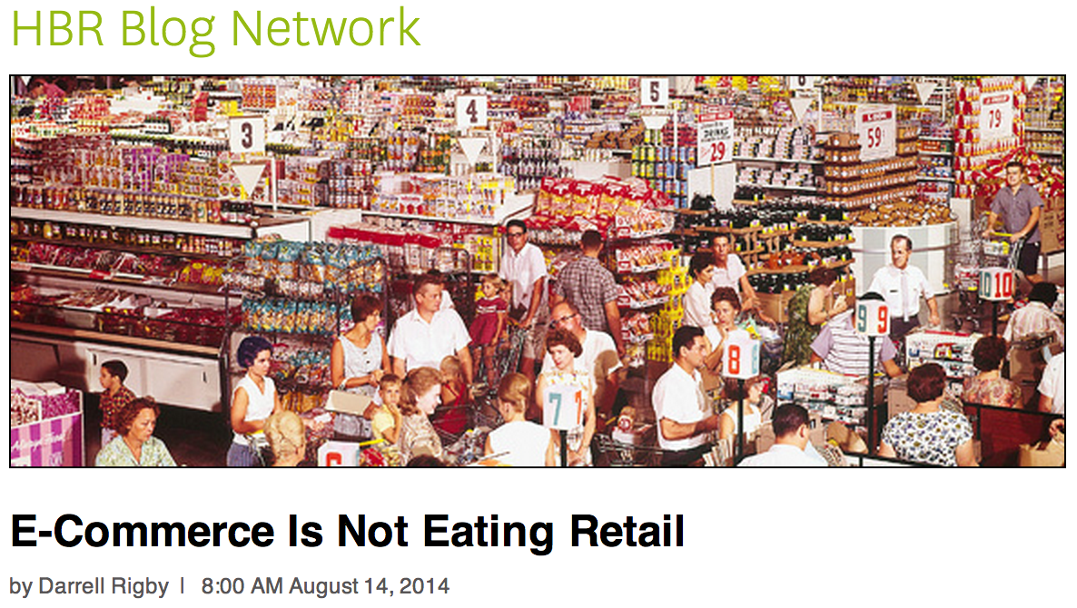 Ecommerce is not eating retail