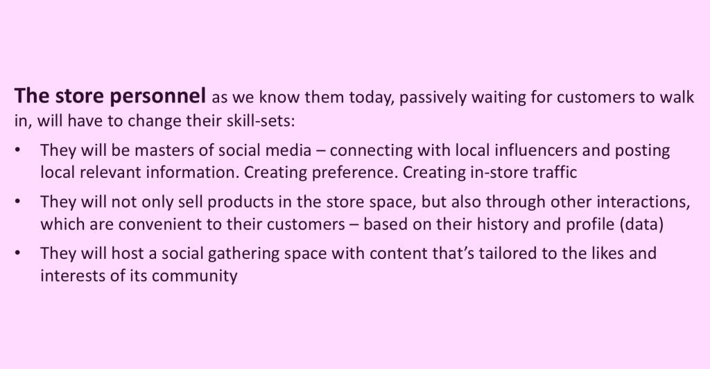 The future store personnel